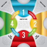 Modern Infographic. A modern infographic perfect for business, education, project workflow, step-by-step instructions, and more. Vector eps 10. File is layered stock illustration
