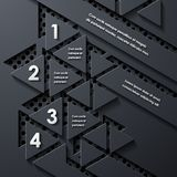 Modern infographic, realistic design elements Royalty Free Stock Photos