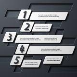 Modern infographic, realistic design elements Stock Photo