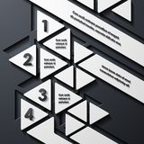 Modern infographic, realistic design elements Stock Images