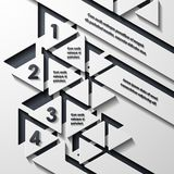 Modern infographic, realistic design elements Royalty Free Stock Photo