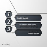 Modern infographic, realistic design elements Stock Image