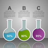 Modern infographic on science and medicine in the form of test tubes. Design elements. Stock Photography