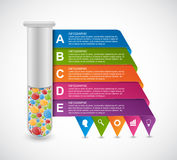 Modern infographic on science and medicine in the form of test tubes. Design elements. Stock Images