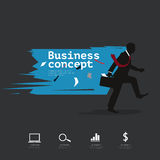 Modern infographic with silhouette businessman walking Royalty Free Stock Image