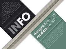 Modern Infographic Slash Style. Modern page layout info graphic template Stock Photo