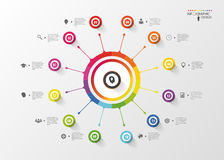 Modern infographic. Spiral business template. Vector Stock Photography