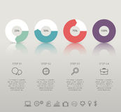 Modern infographic for 4 step. Stock Photography