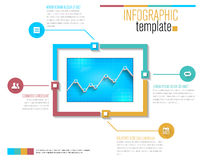 Modern infographic template Royalty Free Stock Image
