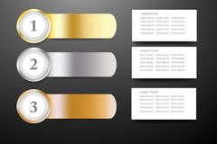 Infographic template as a steel strips as a rank with place for. Modern infographic template as a steel strips as a rank with rectangles ready for your text Stock Photography