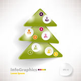 Modern infographic template for business design with christmas Royalty Free Stock Images