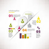 Modern infographic template for business design Stock Photos