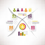 Modern infographic template for business design with divide Royalty Free Stock Images
