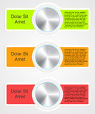 Modern infographic template for business design Royalty Free Stock Images