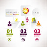 Modern infographic template for business design mi Royalty Free Stock Photo