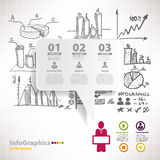 Modern infographic template for business design with sketch royalty free illustration