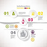 Modern infographic template for business design wi Stock Images