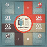 Modern infographic template for business Royalty Free Stock Images