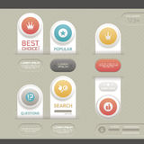 Modern infographic template Stock Photography