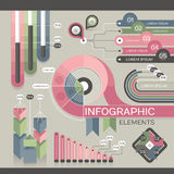Modern infographic template Royalty Free Stock Photos