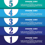 Modern infographic template for design and creative work. The modern infographic template for design and creative work stock illustration