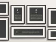Modern infographic template design Royalty Free Stock Photo