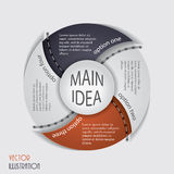 Modern infographic template, design for your business Stock Images