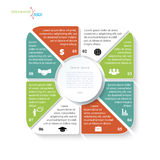 Modern infographic template with eight segments Stock Images