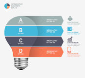 Modern infographic template with light bulb icon design Stock Photography