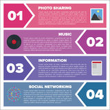 Modern infographic template Stock Images