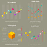 Modern infographic template Royalty Free Stock Photo