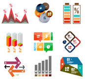 Modern infographic templates and elements set Stock Images