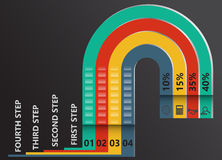 Modern infographic timeline report Royalty Free Stock Image