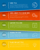 Modern infographic timeline report template Stock Image