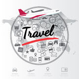 Modern infographic for travel concept Stock Image