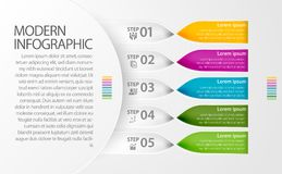 Modern Infographic twisted band design for multiple of use such as business, workflow, diagram and presentation. Royalty Free Stock Photography