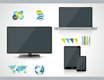 Modern infographic or webdesign concept Royalty Free Stock Photo