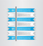 Modern infographic white and blue design template sticker notes Stock Images