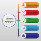 Modern infographics Arkivbild