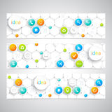 Modern infographics banner with icons. Vector Stock Image