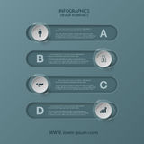 Modern infographics business design options banner. Vector illustration Royalty Free Stock Image