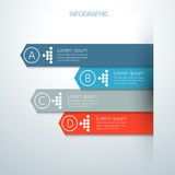 Modern infographics business options growing graph Royalty Free Stock Images
