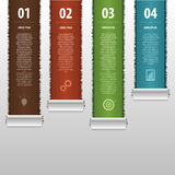 Modern infographics business template. Vector Royalty Free Stock Images