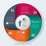Modern infographics circle Stock Images