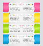 Modern infographics colorful design template with shadow Stock Photo