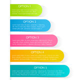 Modern infographics colorful design template with shadow Royalty Free Stock Photo