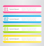 Modern infographics colorful stickers design template with shadow Stock Photo