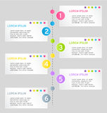 Modern infographics colorful web design template with shadow Royalty Free Stock Images
