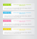 Modern infographics colorful web design template with shadow Stock Photos