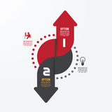 Modern infographics design options banner. Vector illustration. Stock Image